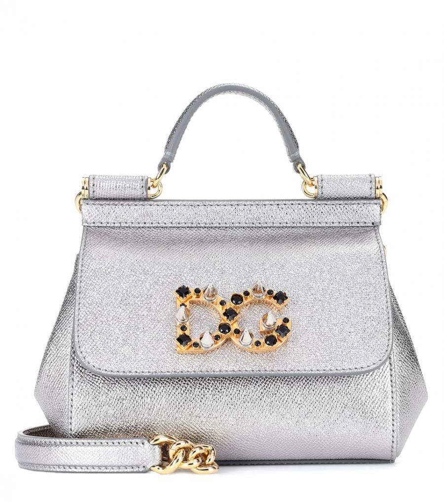nueva productos c055c 8bad8 Bolsos al hombro Dolce & Gabbana Mujer | bolso al hombro con correa Sicily  Mini de cuero Plateado ⋆ Tutos Gratis