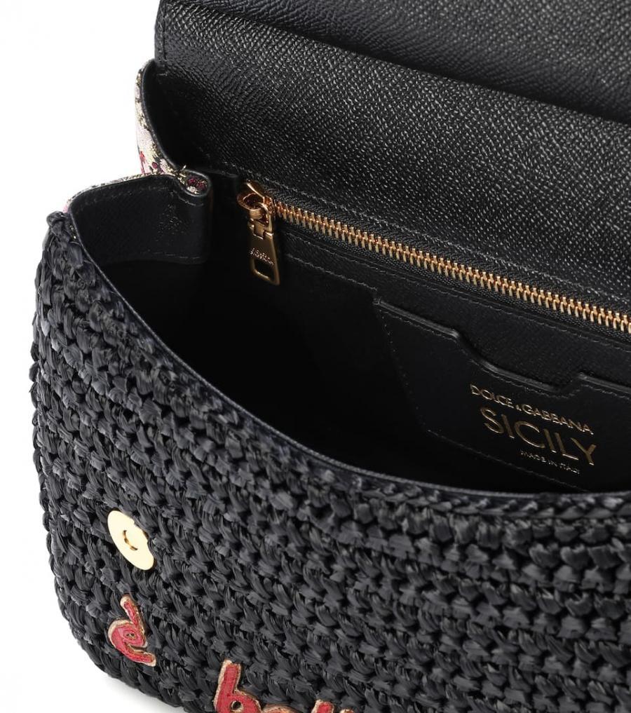 80a27ec85d2 Sicily Rafia amp  Gabbana Al Mujer Bolsos Hombro Bolso De Dolce wnz1p8